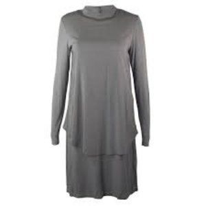 NWT Gray European Culture Tiered Tunic Dress XS